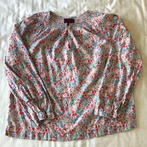 J. Crew Liberty floral peasant blouse